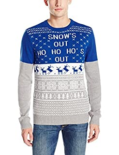 Ugly Christmas Sweater Men's Snow's Out, Royal, Large (B01L8TIIU0)   Amazon price tracker / tracking, Amazon price history charts, Amazon price watches, Amazon price drop alerts