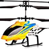 GRTVF RC Helicopter Toy with LED Light Navigation & Gyroscope Stabilizing System Indoor/Outdoor Airplane Aircraft for Kids Age 6+ Remote Control Helicopter Toys 3.5 CH Built-in Gyro Anti-Collision