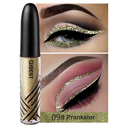 Coloré(TM) Palettes de maquillage Paillettes Poudre Ombre Eyeliner liquide fard à paupières brillant Eyeliner liquide fard à paupières brillant (I)