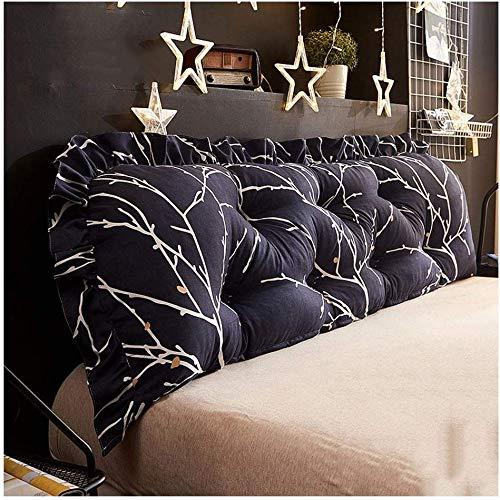 Kussen bed hoofdsteun zachte tas afneembaar en wasbaar lendenkussen sofa lang kussen huis slaapkamer bed rugleuning (kleur: A, maat: 180 cm) 200 cm A