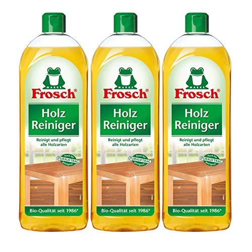 3x Frosch Holz Reiniger 750 ml - mit natürlichen Pflegewirkstoffen der Kiefer