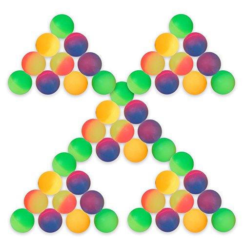 Schramm® 50 Piezas de Pelotas de Rebote Escarcha 27mm de Pelotas de Rebote Bola de Rebote Bola de Rebote con sorteo Cumpleaños de los niños 50 Pack