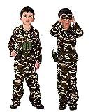 Inception Pro Infinite Taglia M - 3 - 5 Anni - Costume - Travestimento - Carnevale - Halloween - Mimetica Assalto - Soldato - Militare - Armata - Colore Marrone - Bambino - Idea Regalo Originale