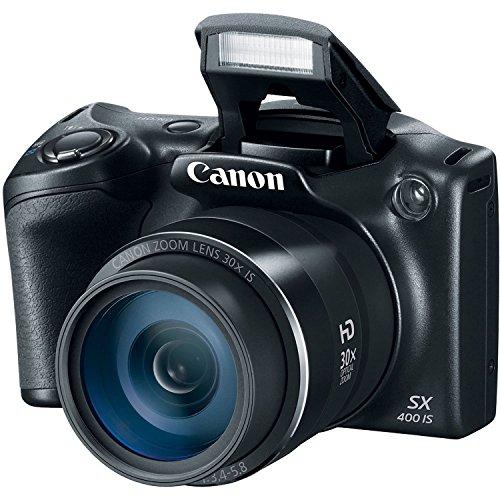 Canon PowerShot SX400Cámara Digital Sensor de 16,0megapíxeles con Digital de 4x y zoom óptico de 30x (24–720mm) y lente gran angular de 24mm (Certificado Reformado)