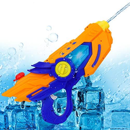 Pistola de Agua eléctrica, CestMall Pistola de Agua de Juguete de plástico, súper Pistolas de Agua con Capacidad de 600 ml, Potente Pistola de Agua de 6 a 10 m de Largo Alcance, Juguetes Divertidos