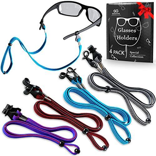 Eye Glasses String Holder Straps - Sports Sunglasses Strap for Men Women - Eyeglass Holders Around Neck - Glasses Retainer Cord Chains Lanyards