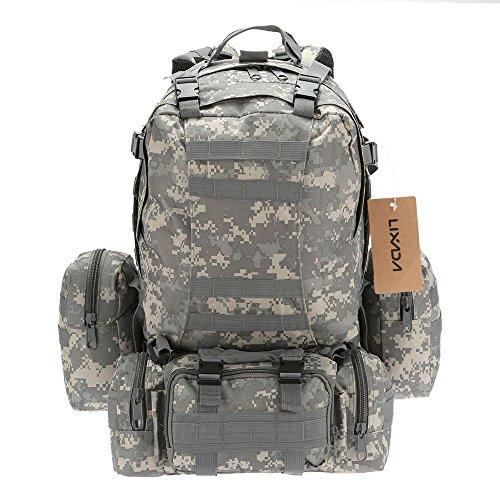 Lixada Multifunktions Militärischen taktischer Rucksack mit MOLLE Gurte Rucksack Sport Camping Reisen Wandern Tasche (Tarnfarbe 5)