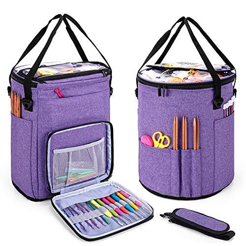 Yarn Storage Bag with Dividers