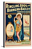 Ringling Bros and Barnum and Bailey - Dainty Miss Leitzel Vintage Poster USA c. 1929 (23 3/4x36 Gallery Wrapped Stretched Canvas)