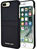 Michael Kors Saffiano Leather Case with Pockets for Apple iPhone 7 Plus 5.5 - Black
