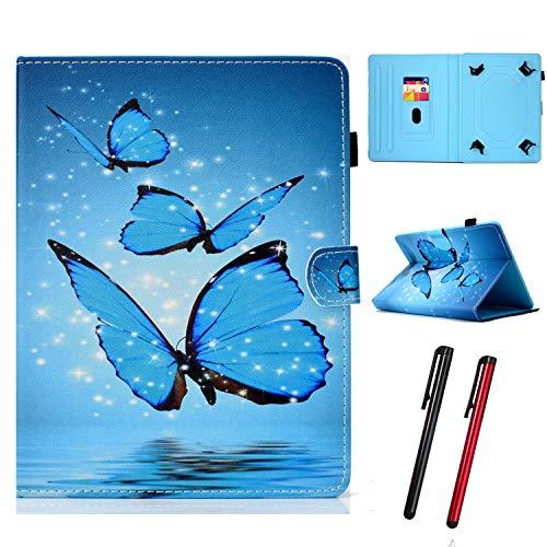Hious Universal Hülle für 7 Zoll Tablet mit Kartenfächer & Stift für Samsung Galaxy Tab 4 7,0 SM-T230 T235/Fire HD 7