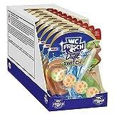 WC FRISCH Duft Switch Toilettenreiniger (10 Stück), WC Duftspüler mit Saftiger Pfirsich-Duft vor dem Spülen & Süßer Apfel-Duft nach dem Spülen, WC Stein für langanhaltende Frische
