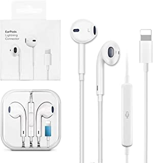 Wired Earphones For iPhone 7 8 Plus X XR XS MAX 11 12 Pro Max Earphones For Apple Wired Headphones Earphones - white