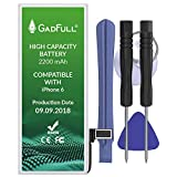 GadFull Battery High Capacity Compatible with iPhone 6 | 2019 Production Date |...