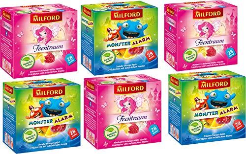 Milford Kindertee | Set 03 | 2 verschiedene Sorten | Monster Alarm | Feentraum | Tee | Aufgussbeutel