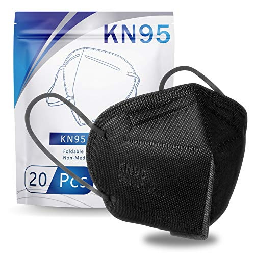 Hotodeal KN95 Face Mask 20 PCS, Filter Efficiency≥95%, 5 Ply Mask Against PM2.5
