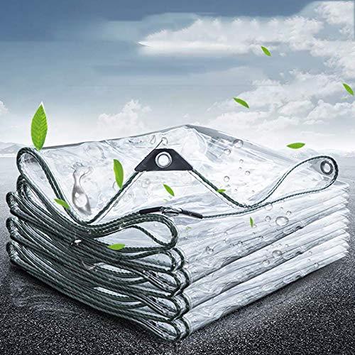 ZHANGYUQI Lonas Impermeables Multiusos con Ojales, Lonas Impermeables Resistentes Al Aire Libre, Lona Transparente de PVC Resistente(Color:Claro,Size:3.8mx9.8m)