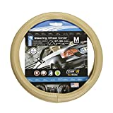 SUMEX CAR+ Original Beautiful Beige Steering Wheel Cover, Exceptional Grip, fits All 14.5' to 15.5' Steering Wheels. Odorless, Non Toxic Materials.