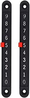 LIOOBO 2PCS Foosball Score Counter Table Football Air Hockey Goal Counter Keeper Record (Black)