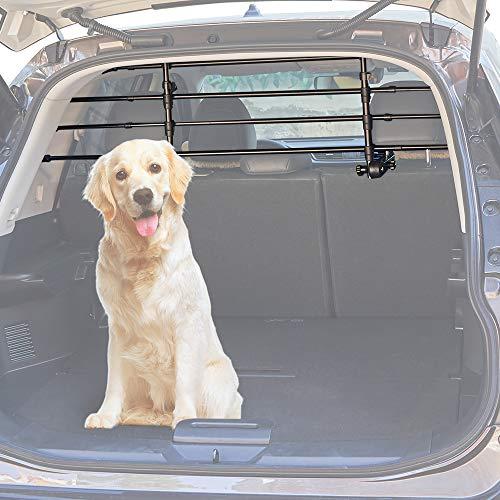 Schutzgitter Auto Hundegitter aus Aluminium Hundeschutzgitter Trenngitter Gepäckgitter Universal für Kofferraum 32-53CM * 85-145CM