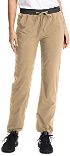 US 14 Womens Hiking Shorts Quick Dry Casual Stretch Pants Elastic Waist Capri Long Shorts with Cargo Pockets #203 Khaki-XXL 36