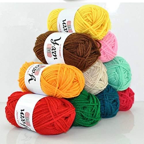 LLDS accepteren mix kleur 20 ballen breien garen zachte anti-pilling 100% acryl Diy wol garen effen kleur speelgoed trui jas hoed jurk garen