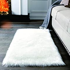 💋【ULTRA-SOFT&WARM FLUFFY】Genuine soft artificial animal wool is designed for daily indoor use. Silky soft fur like shag fibers for extra comfort,Shaggy plush is very delicate, softness, skin-friendly, no-smell, non-shedding and not-fading. 💋【ANTI-SKI...