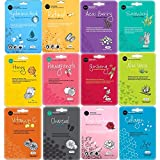 Celavi Collagen Facial Face Mask Classic Korean Skincare Lighten Moisturize Tighten Skin Diminish Dark Spots & Circles Brighten Balance Pigmentation 1 of 12 flavors (New C 12 masks) Made in Korea
