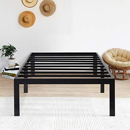 Olee Sleep 18inch Tall Steel Slat / Non-slip Support S-3500 High Profile Platform Bed Frame, Twin