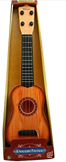 HK Toys Guitar Toys for Kids Fully Functional / 4 String Classical Brown Guitar Toy |Musical Acoustic Guitar with Adjustable Tunning Knob