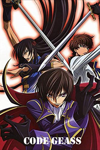 """Code Geass: Japanese Anime Gift For Teen Girls Boys Men Women, Anime Notebooks For School, Perfect For Drawing, Writing, To Do List, Planning.. Anime ... Lined Notebook (6""""x""""9 In, 100 Pages)"""