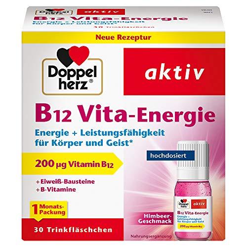 Doppelherz B12 Vita-Energie Trinkfläschchen – Energie und Leistungsfähigkeit für Körper und Geist – Vitamin B12 zur Verringerung von Müdigkeit und Erschöpfung – 30 x 10 ml
