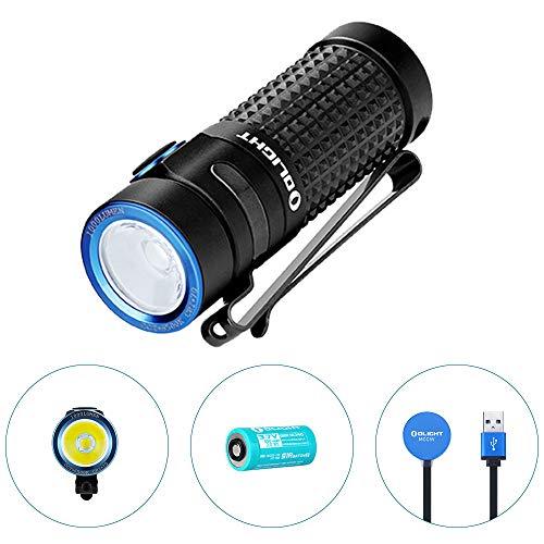 OLIGHT S1R Baton II Wiederaufladbare EDC-Taschenlampe 1000 Lumen Umfang von 145 Metern, Ladegerät MCC II Effizient, Turbo-Strobe-Modus und Mögliche Ablesung, Mini-Wasserdichtes Taschenlicht