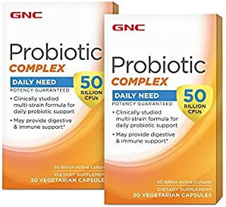 GNC Probiotic Complex 50 Billion CFUs 30 Vegetarian caps 2 Pack