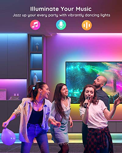 Govee Rgbic Led Strip Lights, App and Remote Control for Bedroom, Living Room, Kitchen, and Party 8