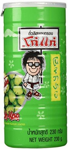KOH KAE Peanuts Wasabi Crackers Peanuts Nori Wasabi Flavor 230 G / Cans Made in Thailand