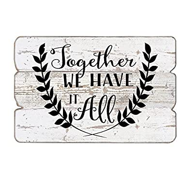 MODE HOME 11.81 X15.75  Decorative Vintage Wooden Wall Art Signs(TOGETHER WE HAVE IT ALL)