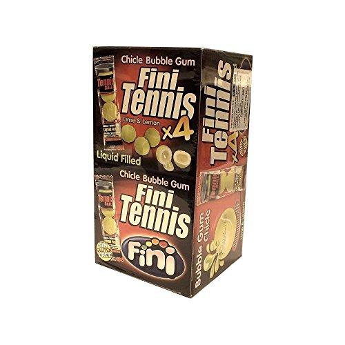 Fini Kaugummi Tennis Ball Zitrone & Limone (50 x 4 Stck gefüllt mit Lemon & Lime)