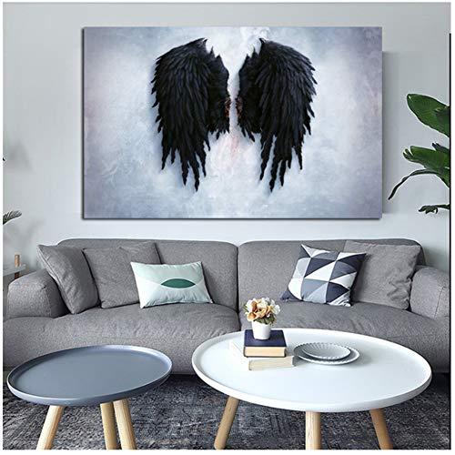 nr Modern canvas schilderij muurkunst poster en afdrukken De gebroken vleugels van de engel muurschilderingen voor woonkamer cuadros Home Decor-50x70cm No Frame