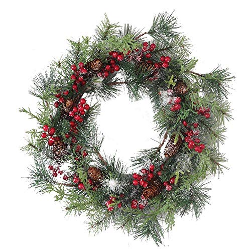 50 cm Artificial Pine Cones Garlands Front Door Wreaths Christmas Wreath Large Door Wreath Christmas Reusable for Indoor Outdoor Window Wall Wedding Decoration