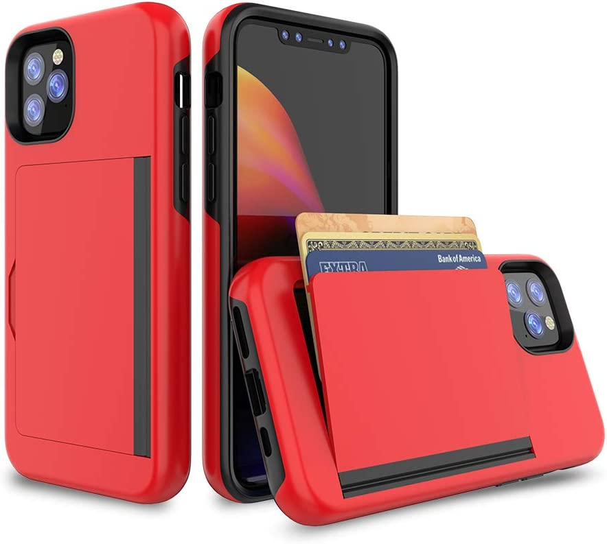 iPhone 11 Ultra-Thin Shockproof Case with Credit Card Slot Protective Wallet with ID Holder