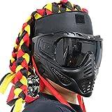 AQzxdc Máscara De Airsoft Táctica del Ejército Militar Totalmente Cubierta, con Geniales Juegos De Rastas, para Halloween Paintball Cosplay Fiesta De Hockey,Negro,Sets