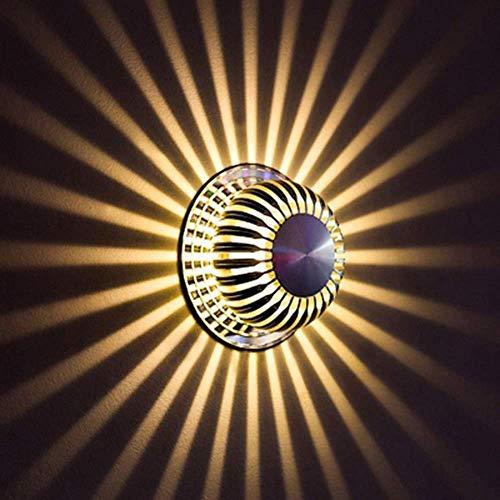 CHOUCHOU Apliques Pared Brillo Lámparas de Pared LED de 3W Moderna de Aluminio de Montaje Empotrado
