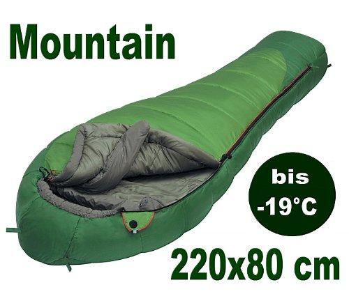 Alexika Schlafsack / Hüttenschlafsack Jugendherberge Skihütte MOUNTAIN GREEN - leichte 1,9 kg - 220x80 cm - kompakt - bis -19°C