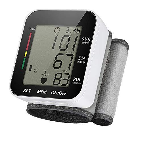 LOVEHOUGE Monitor De Presión Arterial De Muñeca para Casa,Completamente Automático Medir El Monitor De Presión Arterial con Digital LCD Pantalla Monitor