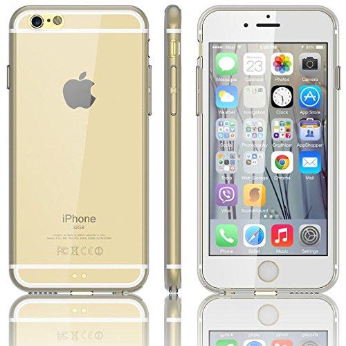 EASYPLACE - Cover case - Telaio colorato e posteriore trasparente - TRASPARENTE - IPHONE 5 -Flessibile e resistente