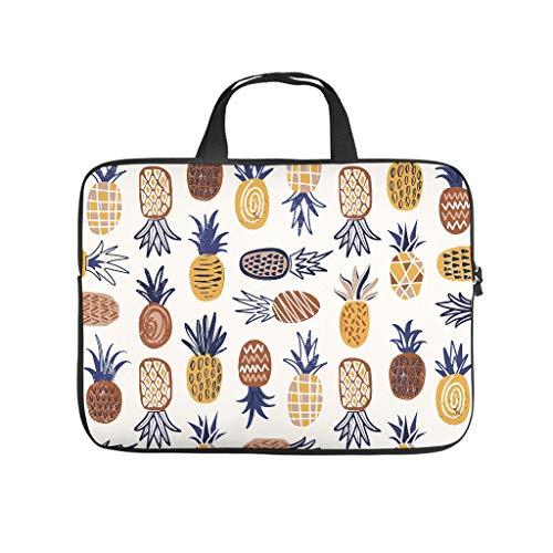 Fruit Pineapple Full Print Laptop Bag Protective Case Waterproof Neoprene Laptop Case Bag Personalized Tablet Bag Sleeve Case for Businessmen Office Staff