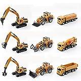 CCM Mini Ingeniería Al-Loy Tractor de Coches de Juguete Modelo de Coche de Juguete Puzzle para Niños Boy Gift Set Incluye Nueve PL