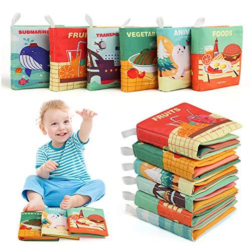 BelleStyle Livres pour bébés, 6PCS Livres d'éveil en...