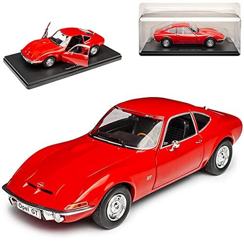 Agostini Opel GT 1900 Coupe Rot 1968-1973 Mit Sockel 1/24 Modell Auto mit individiuellem Wunschkennzeichen